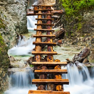 Waterfall (with Wood Stairs)